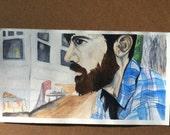 Seth Avett Profile Print