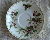 Christmas in July Royal Dalton Christmas Rose small plate