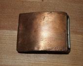 Brushed Copper Belt Buckle