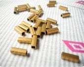 2x6mm vintage raw brass square tubes - 50pcs