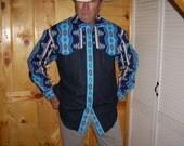 Blue Lightening Men's Western Shirt - Size L/XL