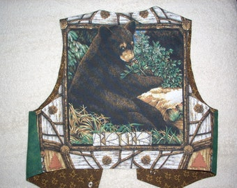 Baby Bear Boy's Western Vest - Size M
