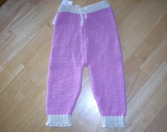 Handknit Wool Diaper Cover/Longie (light mauve) - Size M