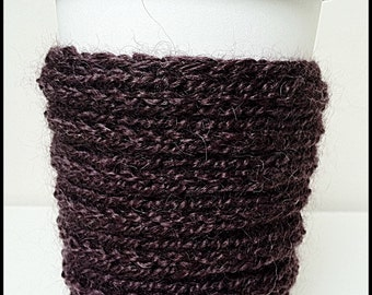 Eco Deep Brown ALPACA CUP COZIES, Set of 2, Free Shipping