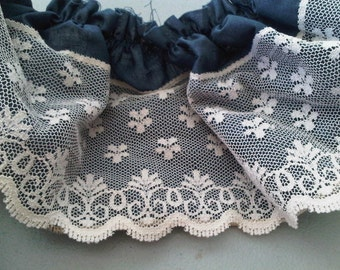Blue and White Trim Lace