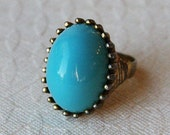 Turquoise & Gold Vintage Ring