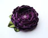 Purple Flower Brooch/ Hair Clip/ Handmade Accessory/ Free Shipping on Additional Items