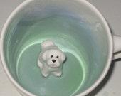 Bichon Coffee Mug, Bishon Frise Surprise Hidden Animal Mug (Made to Order)