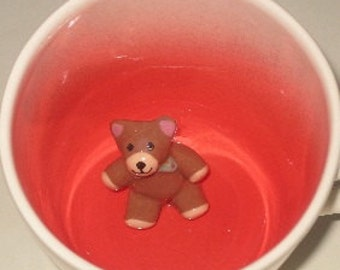 Small Teddy Bear Surprise Mug (Made to Order)