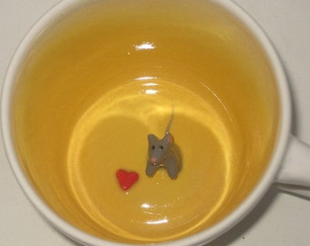 Mouse with Heart Surprise Mug (Made to Order)