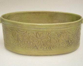 Chartreuse Oval Garden Pot