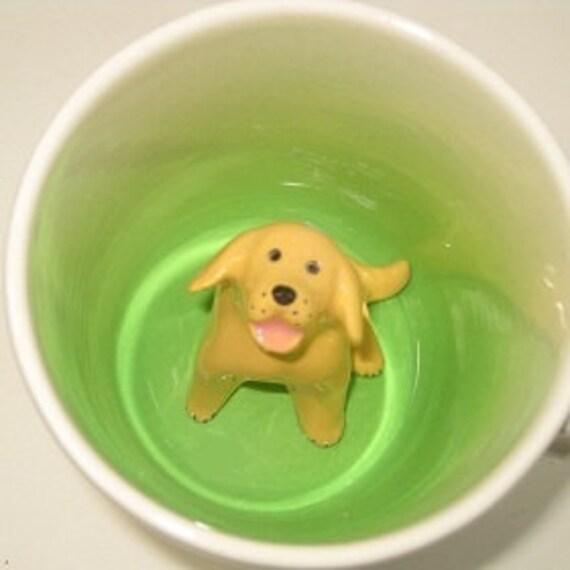Yellow Labrador Surprise mug (Made to Order)
