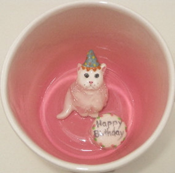 Birthday Cat, paw prints (In stock)
