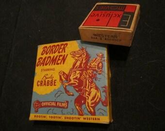 Vintage16mm movie. Border Badmen starring Buster Crabbe