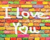 Home Decor - Wall Decor - Grunge - Wall Art - Rustic Decor - Art Print - Fine Art Photography - Love Print - Orange Yellow - Background