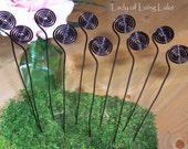 Spiral Wire Wedding Place Card Holders, Table Number Holders, Photo Holders, Plant Picks, Table Numbers, Place Cards - Set of 10 at 4""