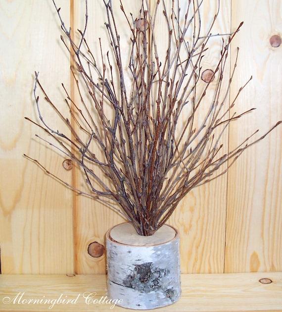 Birch and branches wedding centerpiece wish by