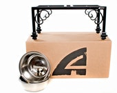Elevated Dog Feeder, Bowl holder, Traditional design, 16 inch