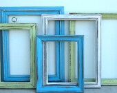 RESERVED FOR ASHLEY 5 Beach-y, Up Cycled Pastel Frame Collection