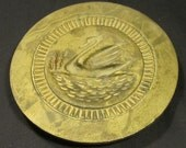 Vintage Collectible Brass Swan Butter Mold Kitchen Home Decor