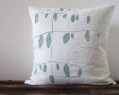 SALE / Printed Hemp Pillow Cover / Soar