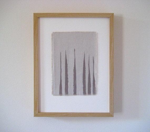 7x10 Drift Art Print on Hemp Canvas