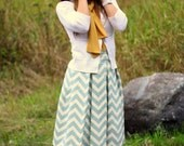 Chevron Striped Pleated skirt