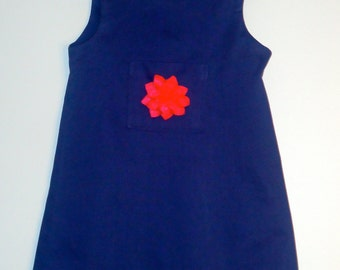 Girls blue jumper size 4,5,6,7,8