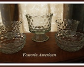 Reserved for Bohart 4 Vintage Fostoria American Serving Bowls Instant Collection Great Grouping