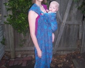 Ring Sling Baby Carrier - Blue and Purple
