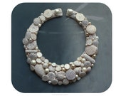 White statement necklace, Illiamna. MADE TO ORDER