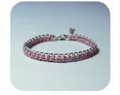Tender pink bracelet, International Free Shipping Etsy
