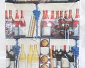 "WINE TIME Wine Bottles Semi transarent Decorative Decoupage Square Platter 10"""