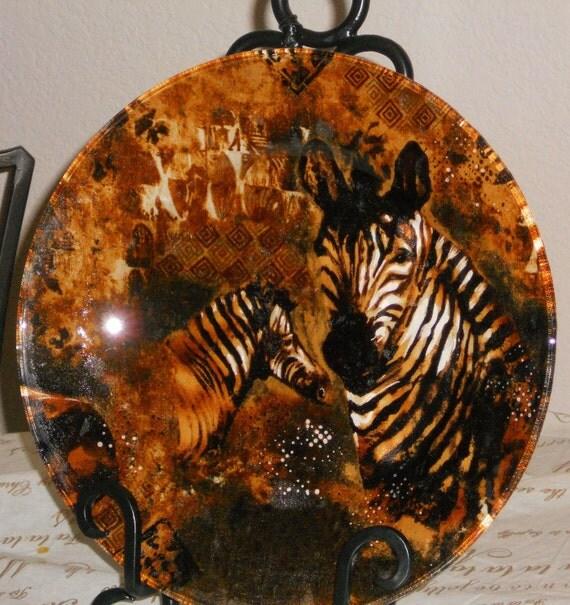 Zebra Safari Animal Print Decorative Decoupage By