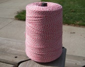 Bakers Twine - Red and White (or your choice) - 5, 10, 15, 25, 50, 75 or 100 yards