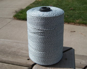 Bakers Twine - Forest Green and White Bakers Twine - Your Choice of Length and 3-Ply Color - 5, 10, 15, 25, 50, 75 or 100 Yards