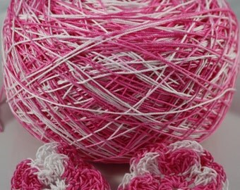 Crochet Cotton - Size 10 - Hand Dyed - Happy Love Day - Sample Size - 10, 25 or 50 Yards - LAST AMOUNTS
