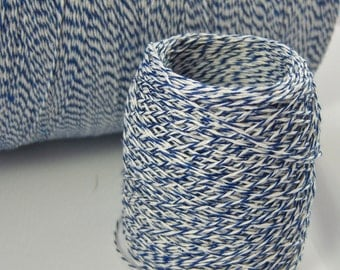 Bakers Twine - Royal Blue and White Bakers Twine (or your choice)  - BULK Amounts, Shop Supply - Thinner 3-ply - CHEAPER PRICING