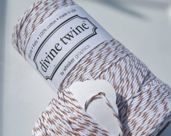 Bakers Twine - Divine Twine - 100% Cotton - One Color - Your Choice - Your Choice of Length