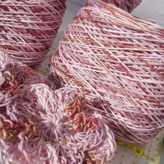 Crochet Cotton - Size 10 - Hand Dyed - If Maroon 5 Was a Color - Large Project Size - 150, 200, 250 or 300 Yards