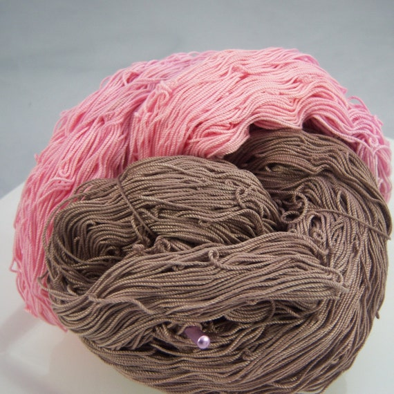 SALE-SALE-SALECrochet Cotton - Size 10 - Hand Dyed - Cupcake - 50 Yards - Sample Size