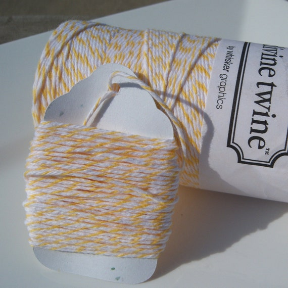 Bakers Twine - Divine Twine - 100% Cotton -  One Color - Your Choice of Amount - Lemon Yellow Shown