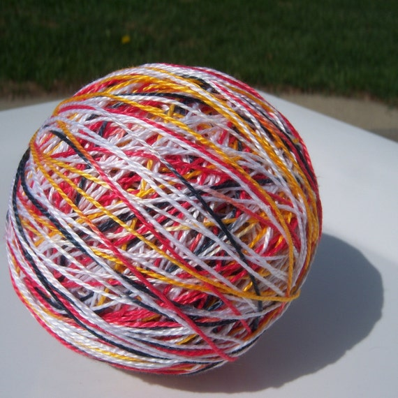 Perle Cotton - Size 5 - Hand Dyed - GO Flames GO  - Embroidery Thread - Your Choice of Amount
