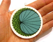 String Art Pendant Shrink Plastic