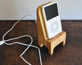 iPhone and iPod Dock in Wood - Stylish Docking Station - USB Cable Included