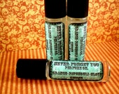Perfume Oil, Roll On, Never Forget You, Sweet Patchouli, Orange,Clove, Ginger, .25 oz in a Glass Bottle, Vegan