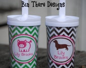 Personalized Spill Proof Sippy Cup with Everlasting Straw