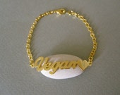 Personalized Gold Name Bracelet with Design B