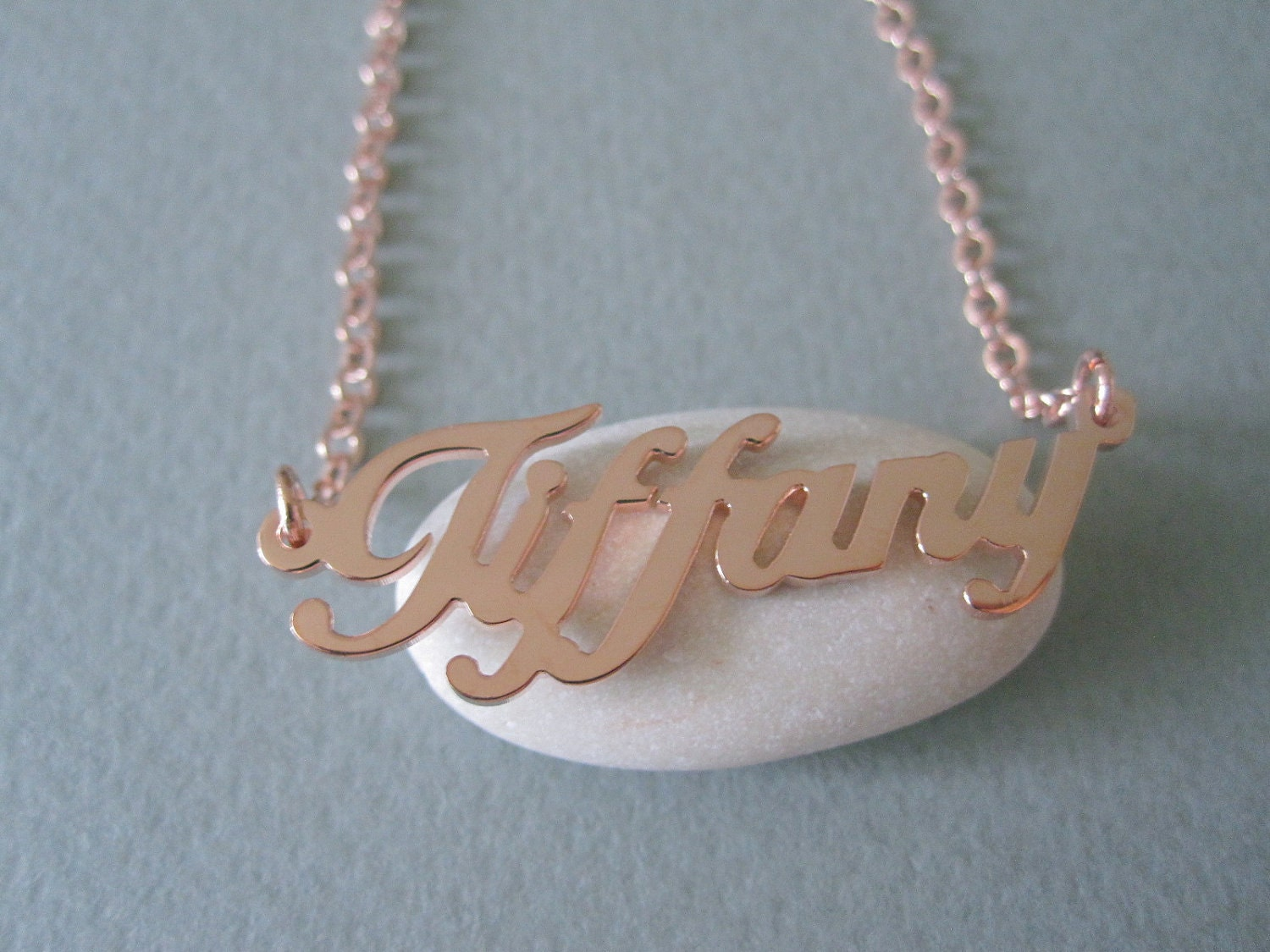 Personalized rose gold name necklace for Rose gold personalized jewelry