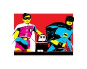 8x10 print Retro Batman and Robin